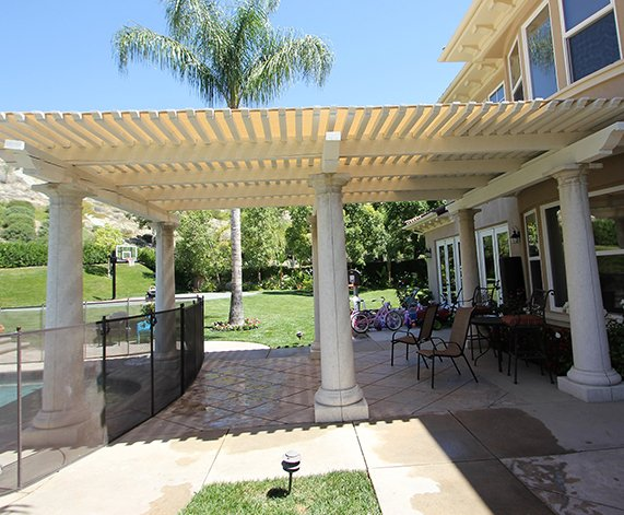 Trellis Covers, Roman Shades/Slidewire Canopies